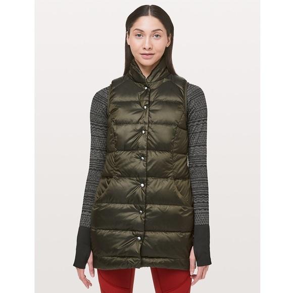 lululemon athletica Jackets & Blazers - Lululemon NWT All Days Vest in Dark Olive Size 8